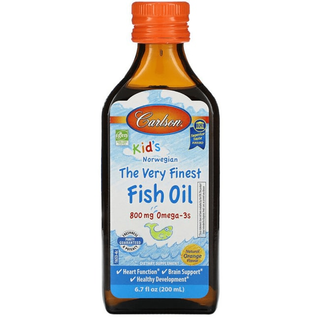 Carlson kid 39 s the very finest norwegian fish oil orange for Carlson norwegian fish oil