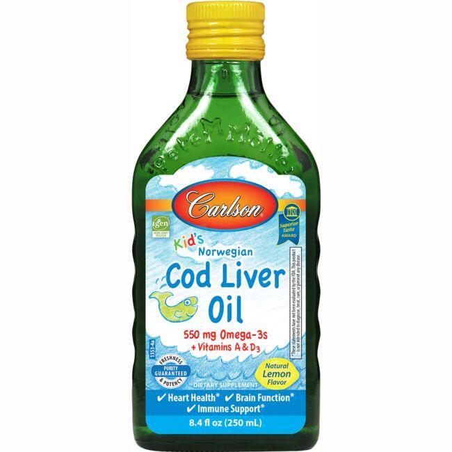 CarlsonKid's Norwegian Cod Liver Oil - Lemon