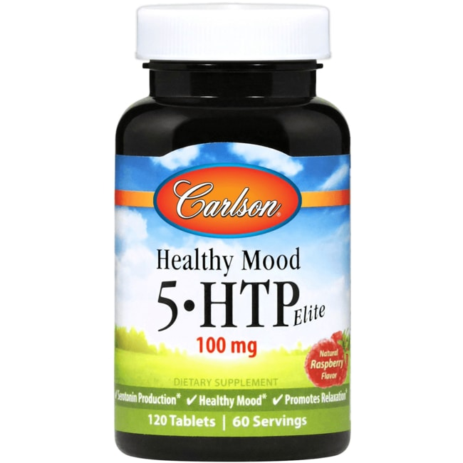 Carlson Healthy Mood 5-HTP Elite - Raspberry Flavor