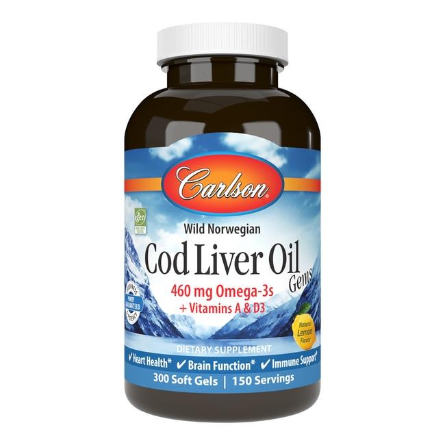 CarlsonCod Liver Oil Gems - Lightly Lemon