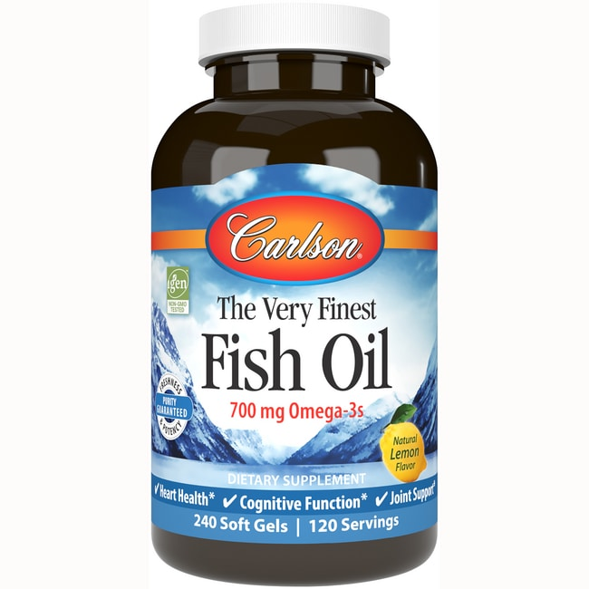 Carlson The Very Finest Fish Oil 1 000 Mg 240 Sgels