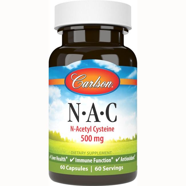 Carlson Nac N-Acetyl Cysteine 500 mg 60 Caps - Swanson ...
