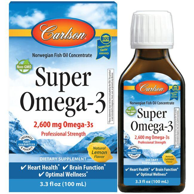 Carlson Super Omega-3 - Lemon