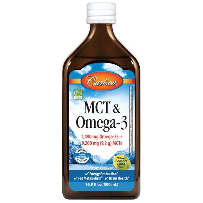 CarlsonMCT & Omega-3 - Lemon Lime