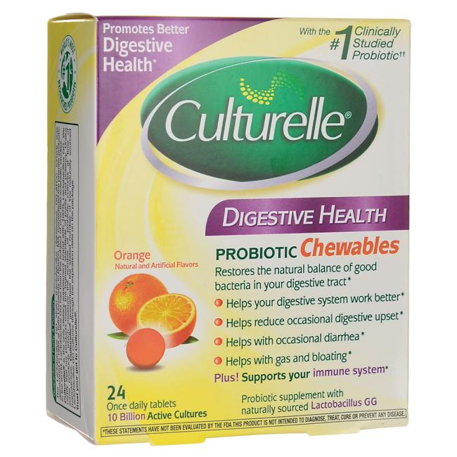 Culturelle Digestive Health Probiotic Chewables - Orange Flavor