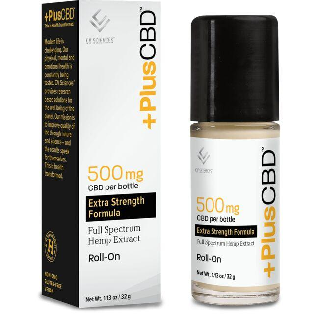 PlusCBD Oil CBD Oil Full Spectrum Hemp Extract Roll-On - Extra Strength
