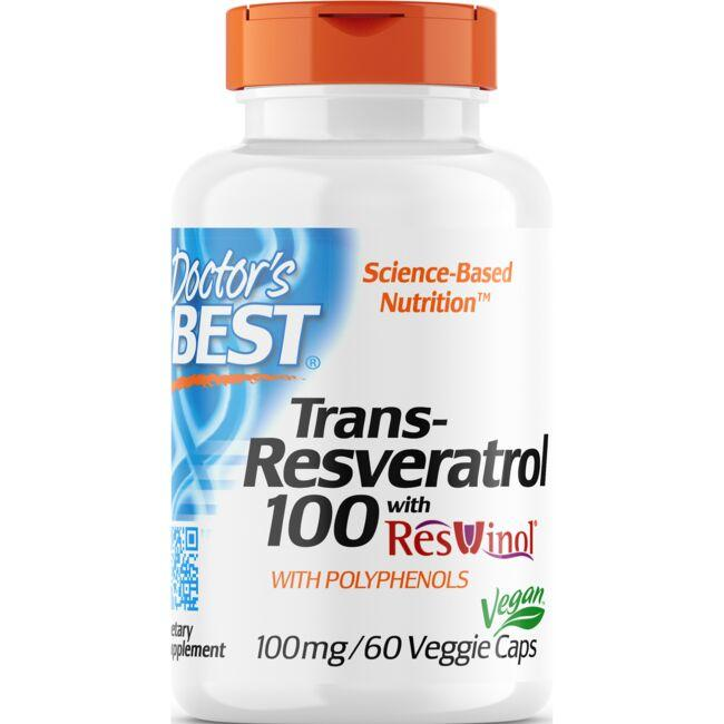Doctor's Best Trans-Resveratrol 100 with ResVinol