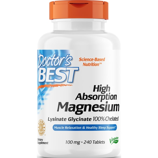 Doctor's BestHigh Absorption 100% Chelated Magnesium