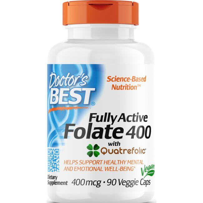Doctor's Best Fully Active Folate 400 with Quatrefolic