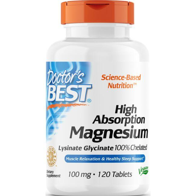 Doctor's Best High Absorption Magnesium 100% Chelated with Albion Minerals