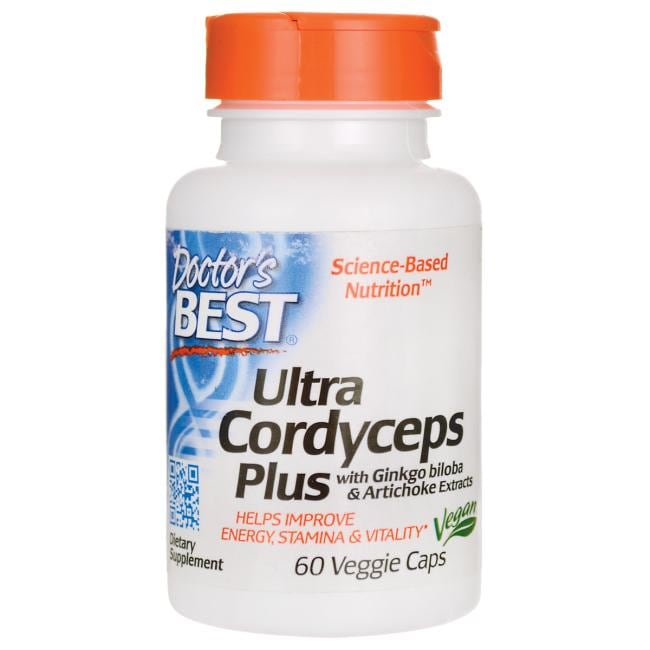 Doctor's Best Ultra Cordyceps Plus with Ginkgo biloba & Artichoke Extracts