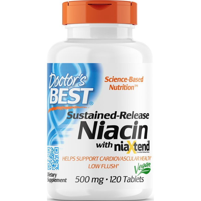Doctor's BestTime-Release Niacin with NiaXtend