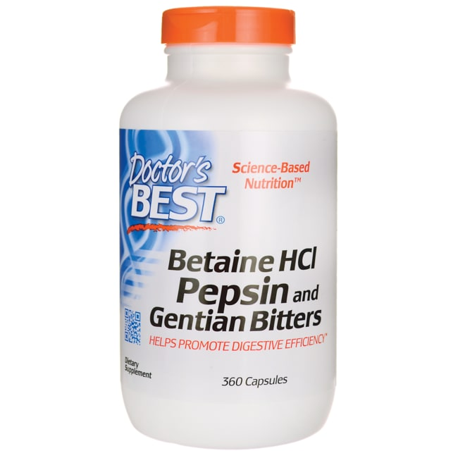 Doctor's BestBetaine HCL Pepsin & Gentian Bitters