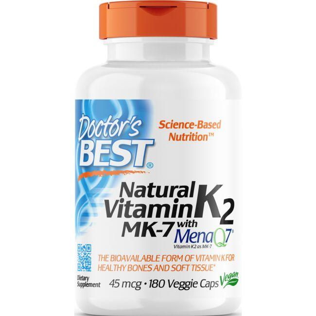 Doctor's Best Natural Vitamin K2 MK-7 with MenaQ7