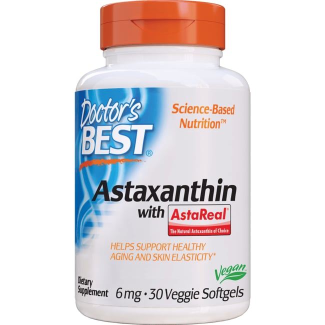 Doctor's BestBest Astaxanthin 6 featuring AstaPure