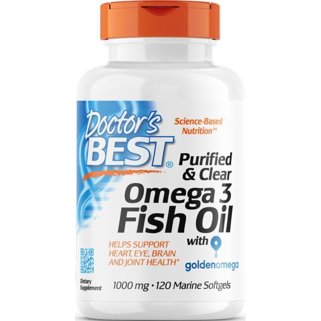 Doctor's Best Purified & Clear Omega 3 Fish Oil