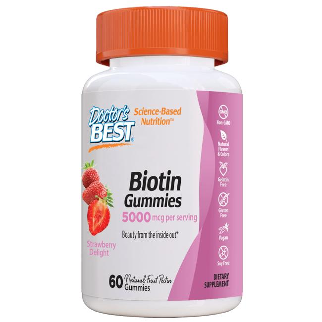 Doctor's BestBiotin Gummies - Strawberry Delight