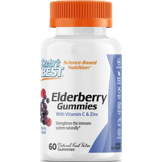 Doctor's Best Elderberry Gummies - Berry Blast