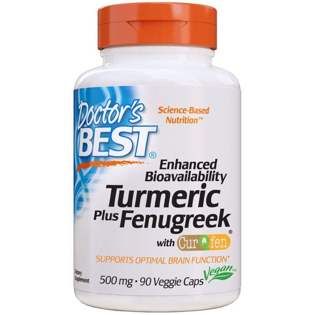 Doctor's Best Turmeric & Fenugreek - CurQfen