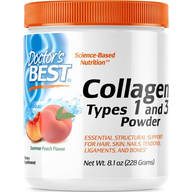 Doctor's Best Collagen Types 1 and 3 Powder - Peach