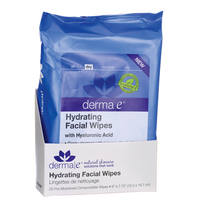 Derma EHydrating Facial Wipes with Hyaluronic Acid