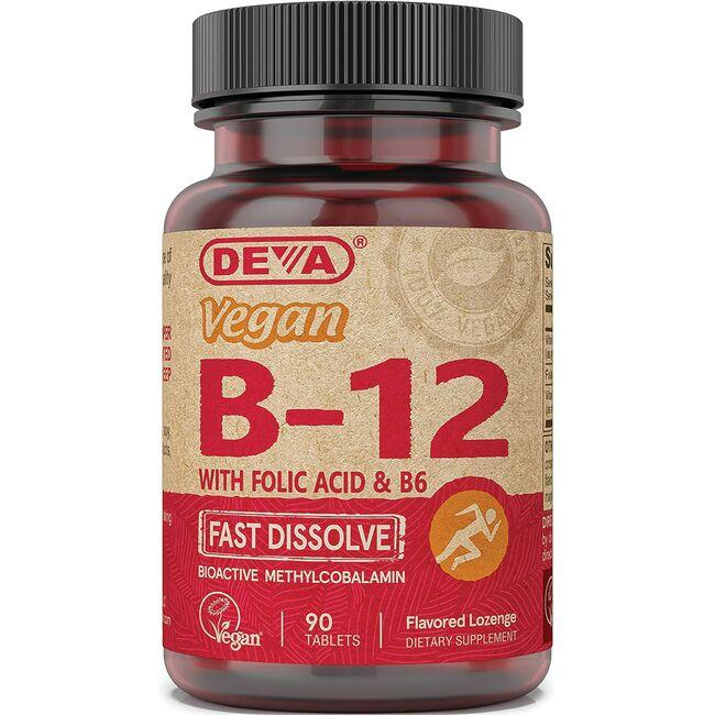 Deva Vegan B12 with Folic Acid & B6 - Fast Dissolve