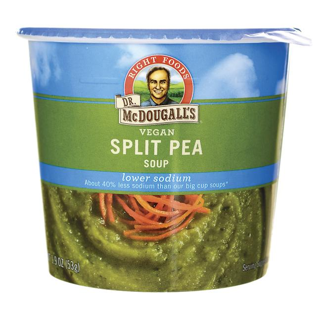 Dr. McDougall'sVegan Split Pea Soup Lower Sodium