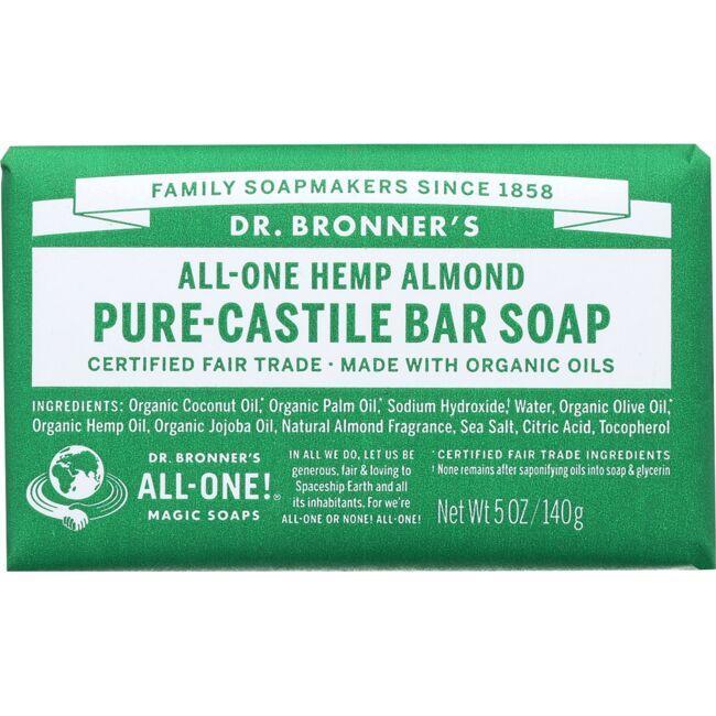 Dr. Bronner'sPure Castile Bar Soap Almond