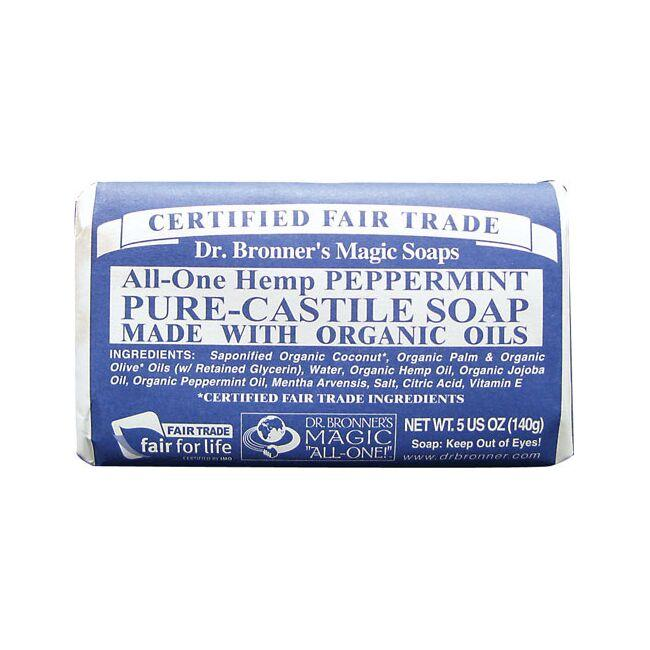 Dr. Bronner's Pure Castile Bar Soap Peppermint