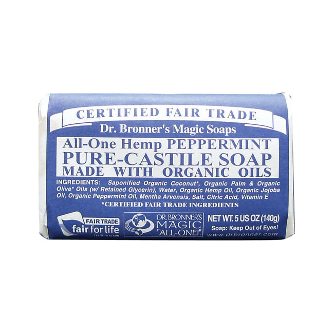 Dr. Bronner's Pure Castile Bar Soap Peppermint