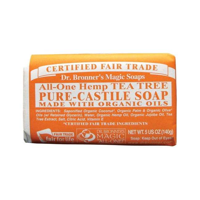 Dr. Bronner's Pure Castile Bar Soap Tea Tree