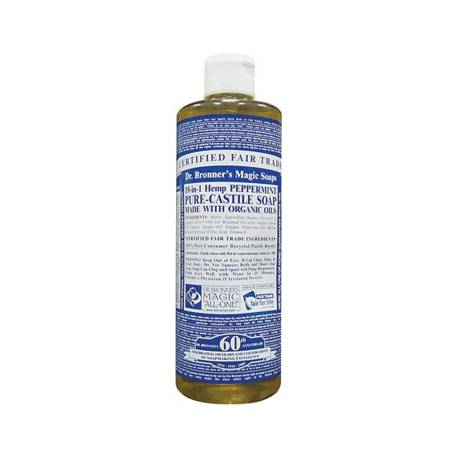 Dr. Bronner's Pure Castile Liquid Soap Peppermint