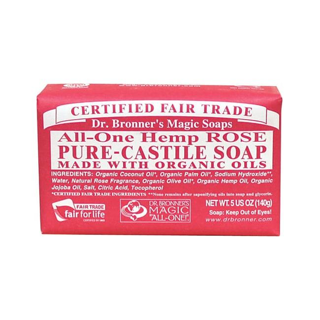 Dr. Bronner's Organic Castile Bar Soap Rose