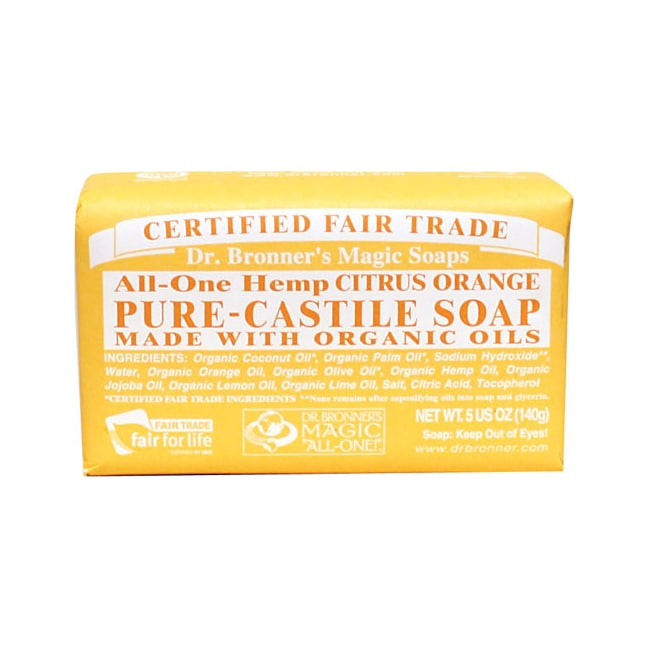 Dr. Bronner's Organic Castile Bar Soap Citrus Orange