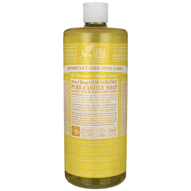 Dr. Bronner's Organic Castile Liquid Soap Citrus Orange