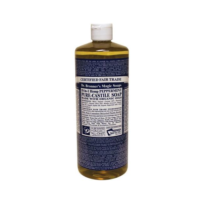 Dr. Bronner's Organic Castile Liquid Soap Peppermint
