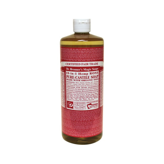 Dr. Bronner'sOrganic Castile Liquid Soap Rose