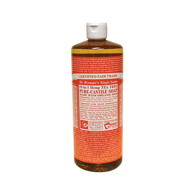 Dr. Bronner's Organic Castile Liquid Soap Tea Tree