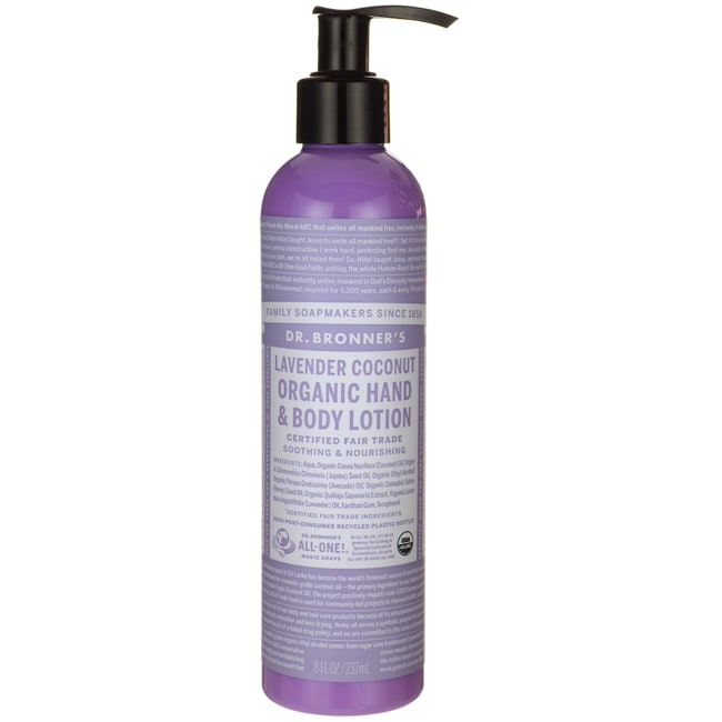 Dr. Bronner's Lavender Coconut Organic Hand & Body Lotion