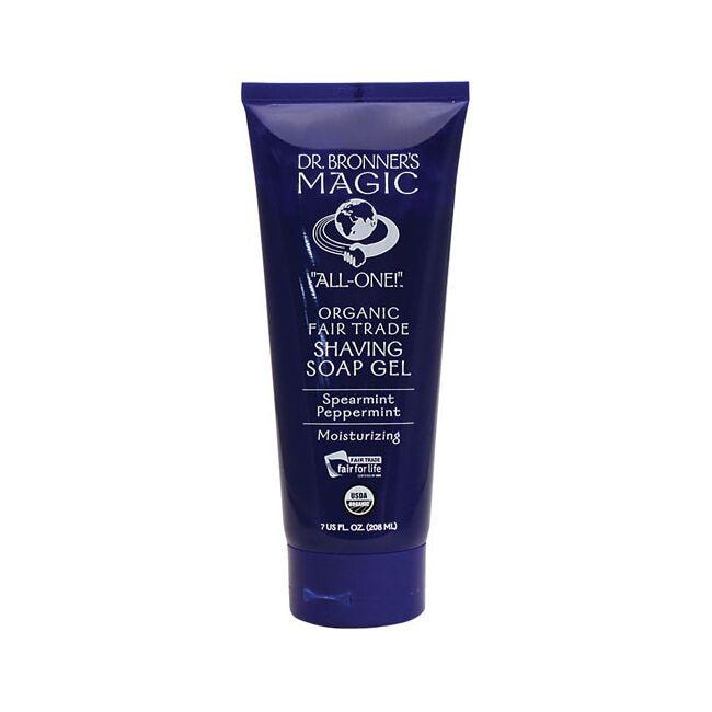 Dr. Bronner's Magic Organic Shaving Soap Gel Spearmint Peppermint