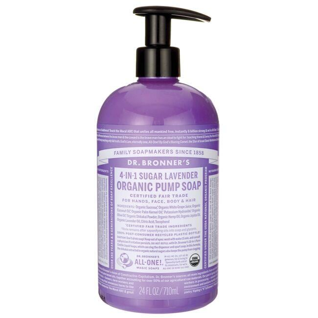 Dr. Bronner's4-in-1 Sugar Lavender Organic Pump Soap
