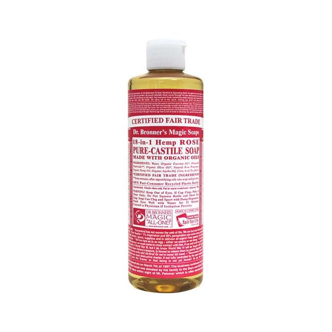Dr Bronner 39 S Pure Castile Liquid Soap Rose 16 Fl Oz