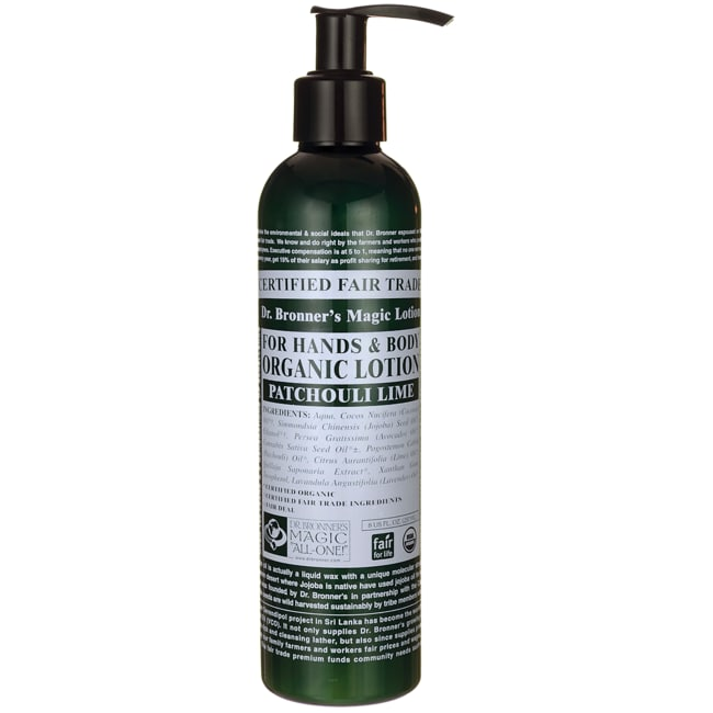 Dr. Bronner's Magic Organic Lotion for Hands & Body - Patchouli Lime