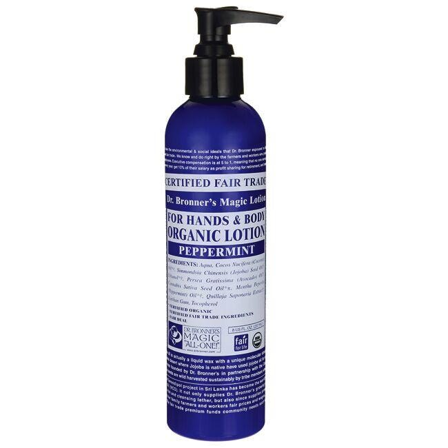 Dr. Bronner's Magic Organic Lotion for Hands & Body - Peppermint
