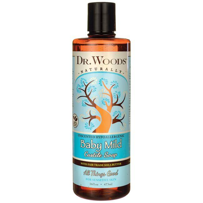 Dr. WoodsBaby Mild Castile Soap with Fair Trade Shea Butter-Unscented
