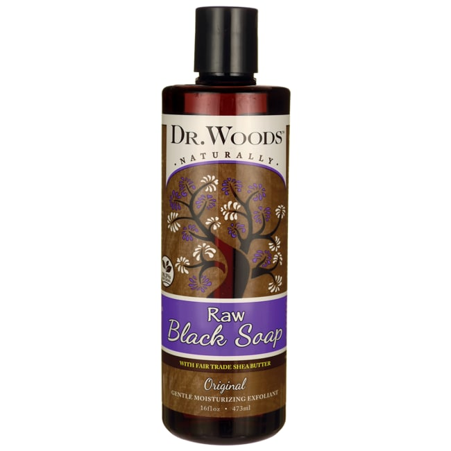 Dr. WoodsRaw Black Soap with Fair Trade Shea Butter - Original