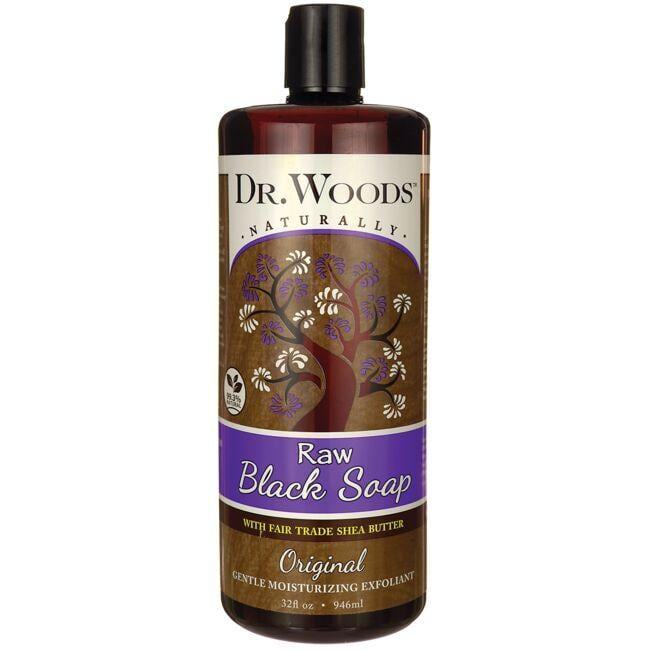 Dr. Woods Raw Black Soap with Fair Trade Shea Butter - Original