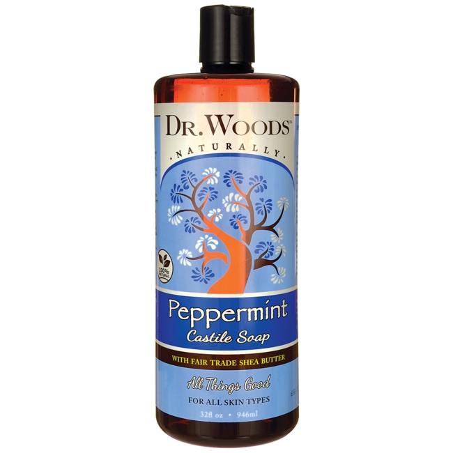 Dr. WoodsPeppermint Castile Soap with Fair Trade Shea Butter