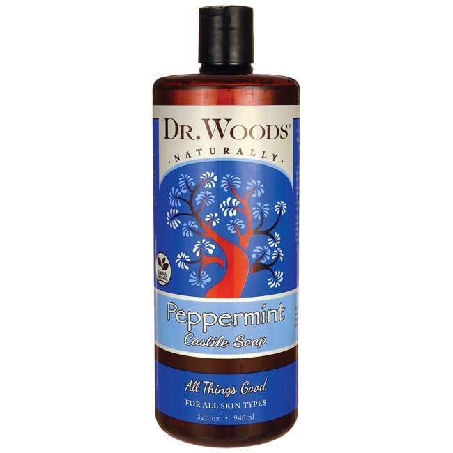 Dr. Woods Pure Peppermint Castile Soap