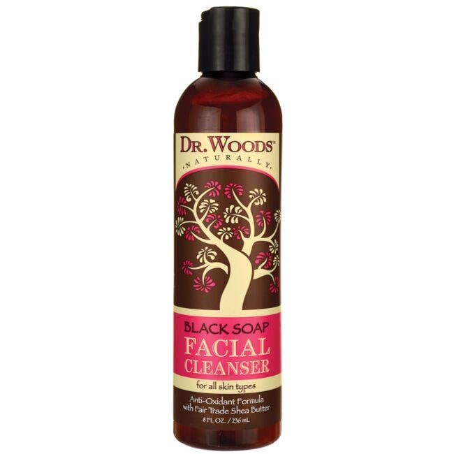 Dr. Woods Black Soap Facial Cleanser with Fair Trade Shea Butter